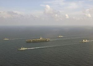 US_Navy_060511-N-1045B-025_Armada_Republica_Colombia_(ARC)_frigate_missile-class_ships_Caldas_(FM_52)_and_Atioquia_(FM_53)_conducts_a_Group_Sail_Exercise_with_the_George_Washington_Carri